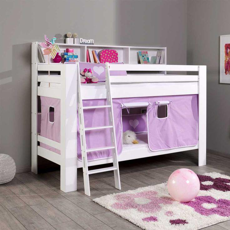 Beautiful Kinderstockbett Für Mädchen Vorhang Lila Weiß Jetzt Bestellen Unter:  Https://moebel.ladendirekt.de/kinderzimmer/betten/etagenbetten/?uidu003d2d6a90df 0fc9 52c1   ... Home Design Ideas