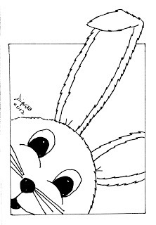 free bunny face digi  easter coloring pages easter design