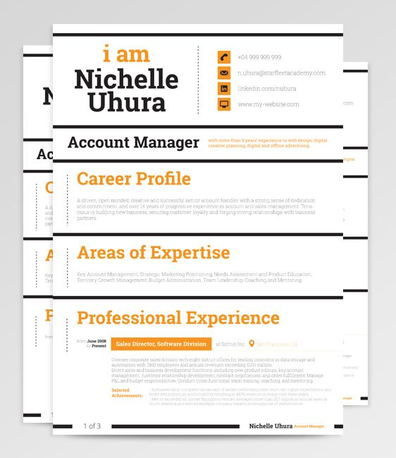 With bold strokes and highly punctuated focus areas, Dorado Resume strikes confidence and power. Perfectly suited for a modern, urban applicant not afraid to stand out and make an impression.  #Resume #Template #ResumeWritingServices #CV #ResumeTemplate #Career
