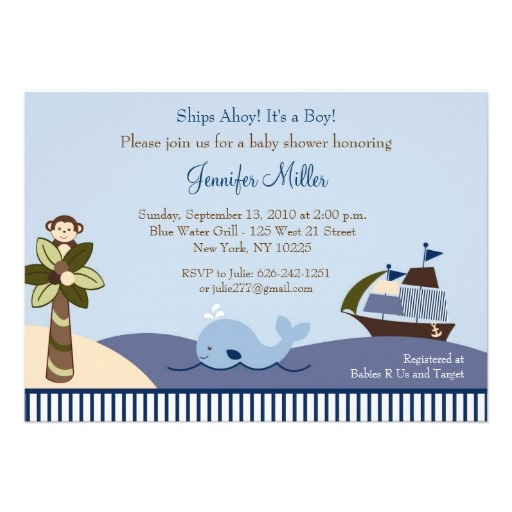 17 best ideas about sailboat baby showers on pinterest | nautical, Baby shower invitations
