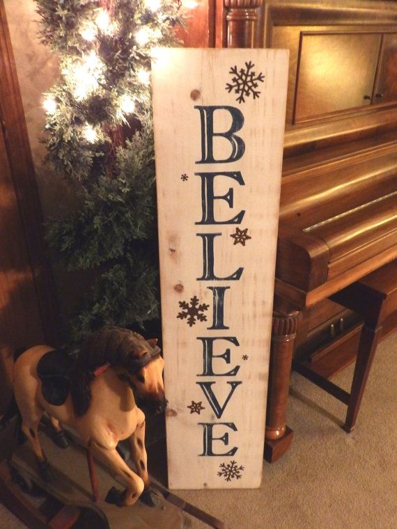 Believe Signs Decor Prepossessing 45 Best Christmas Signs Images On Pinterest  Christmas Plates Decorating Design