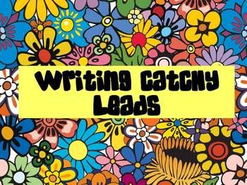 How to write catchy leads, 6 Traits of Writing : )  #6Traits  #catchyleads