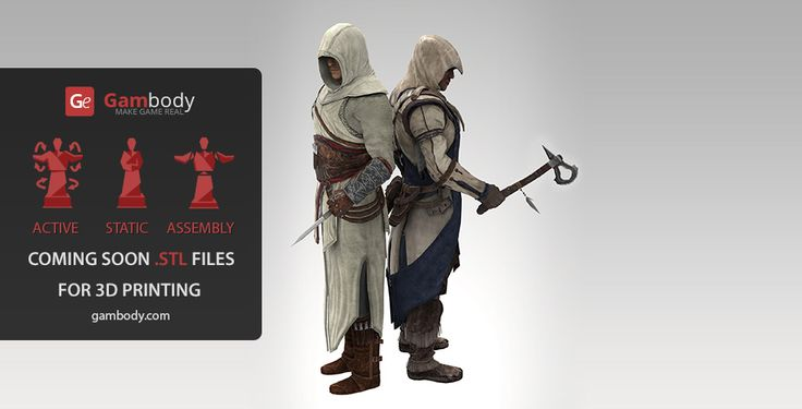 3D model assassin Creed (Static Figure). #3d printings #3dprint #3dmodels