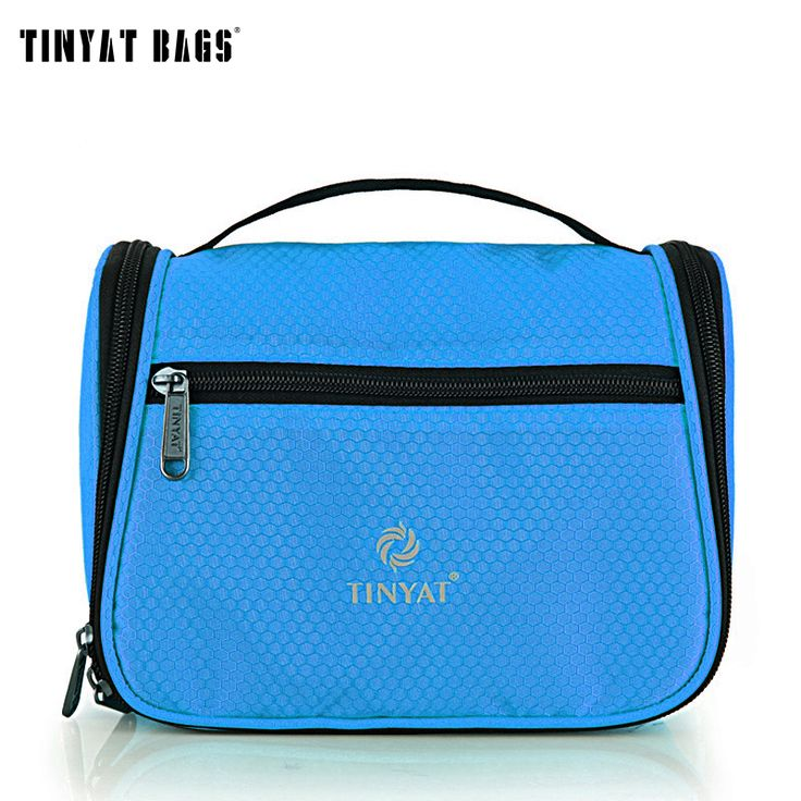 TINYAT TINYAT Portable make up travel wash bag Multifunctional high capacity women cosmetic bag organizer toiletry bag T702 Blue