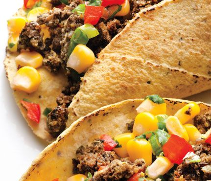 Black Bean Tacos with Corn Salsa recipe 1 taco = 1.25 ounces