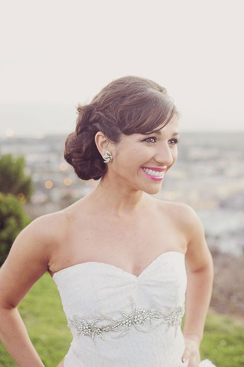 pretty updo for your wedding day captured by the amazing nicole henshaw #bride #bridal #updo #hair #makeup http://www.nicolehphoto.com/blog/