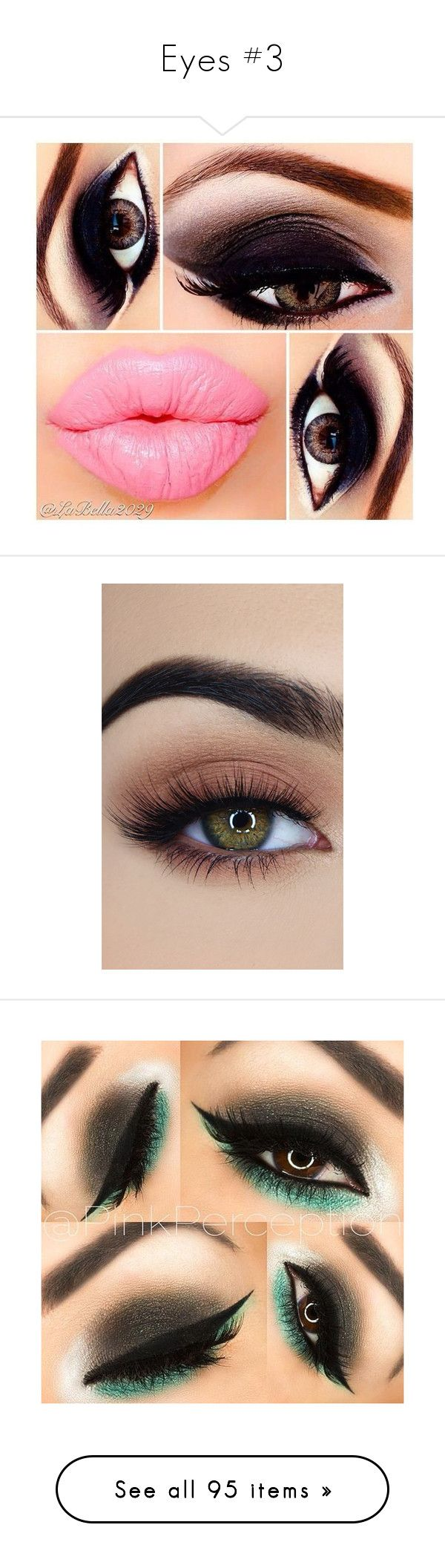 """Eyes #3"" by lu-ciminari49 ❤ liked on Polyvore featuring beauty products, makeup, eyes, lips, beauty, eye makeup, false eyelashes, faces, black and eyeshadow"