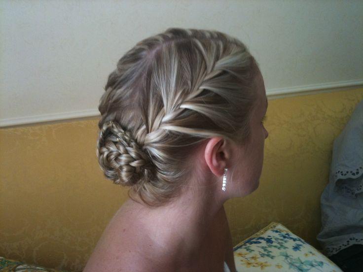 Hair styling by - Renae Tupper @ Hair By Renae Bridesmaid/Braid/Long hair