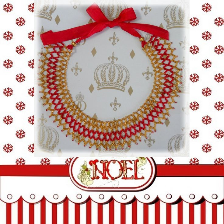Collier Plastron tissé en perle de Rocaille : Collier par les-extravagances-de-bella
