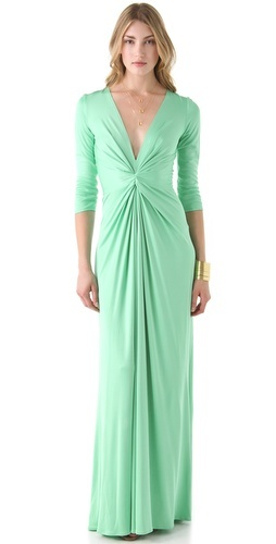 66ba170a7f Issa Long Sleeve V Neck Dress in Green - Lyst