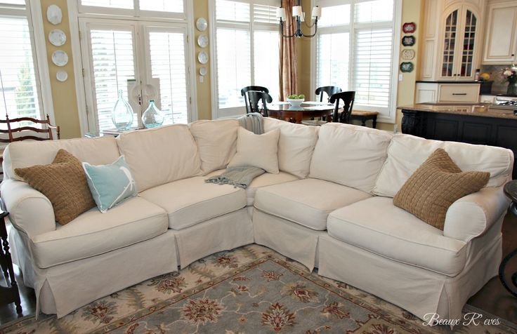 Pottery Barn Knock Off Jcpenney Slipcovered Sectional