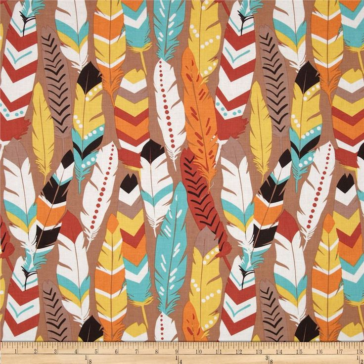 Luckie Fringe Red from @fabricdotcom Designed by Maude Asbury for Blend Fabrics, this cotton print is perfect for quilting, apparel and home decor accents. Colors include burnt orange, white, warm brown, yellow, teal, chocolate, and orange.