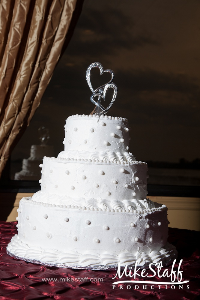 #Michigan wedding #Mike Staff Productions #wedding details #wedding photography #wedding dj #wedding videography #wedding photos #wedding pictures #wedding cake #round #white #tiered