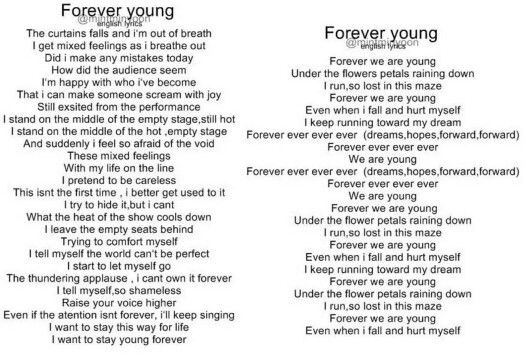 So proud of them ♡ | English lyrics of BTS - Young Forever