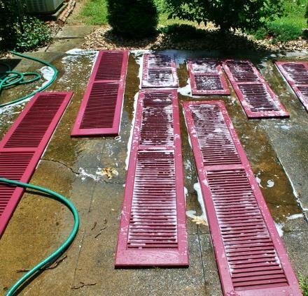 How to clean, prep & paint vinyl shutters in 5 simple steps!