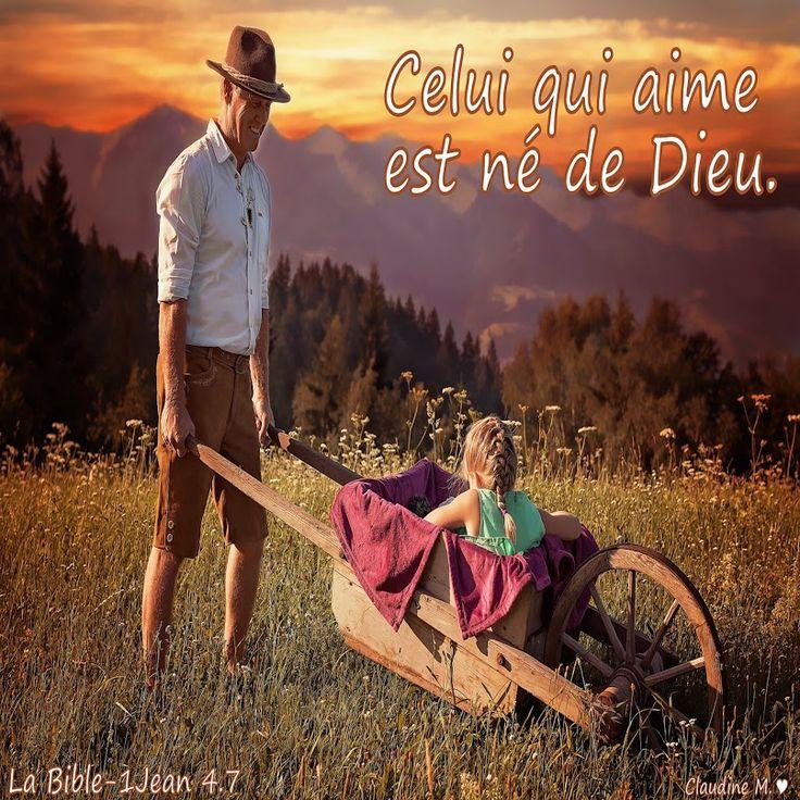 En dehors de DIEU et de son influence sur notre cœur, il n'y a pas de véritable amour. Cet Amour est le signe auquel on reconnaît  ceux qui sont nés de nouveau, nés de DIEU. Un privilège, celui qui aime de l'Amour de DIEU est aimé de LUI ...  Bonne matinée remplie d'Amour...   ♥  https://plus.google.com/u/0/+ClaudineMichau45/posts