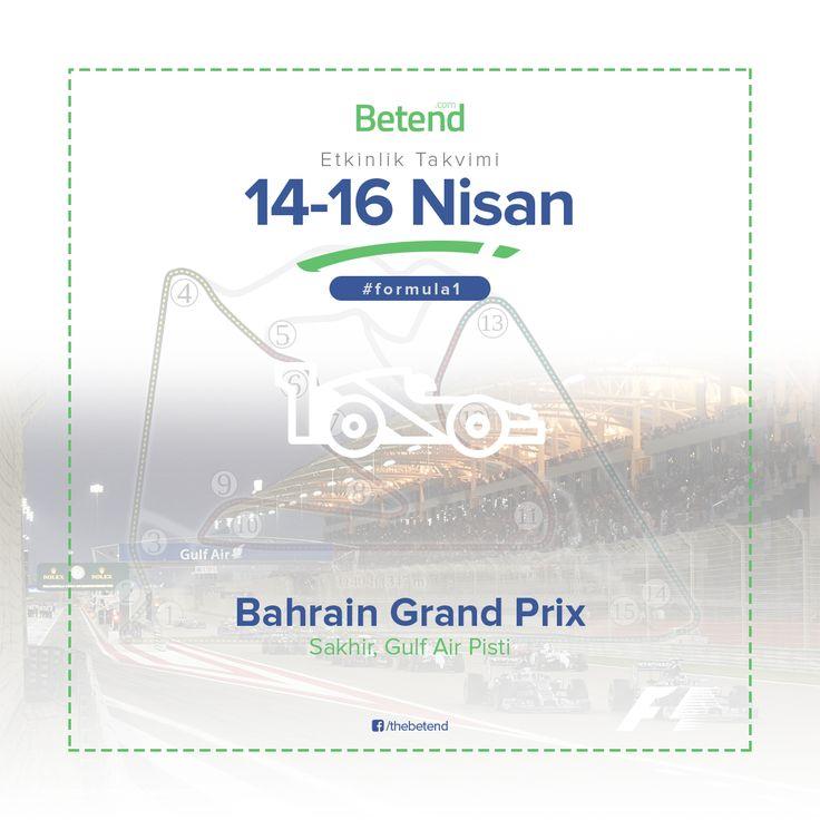 Formula 1 – Bahrain F1'de 2017 takviminin 3. etabı Bahrain'de gerçekleşecek. Sakhir şehrinde düzenlenen yarışlar için sürücüler bugün Gulf Air Pisti'nde ısınma ve sıralama turlarına başlıyor. Final etabı 16 Nisan Pazar günü olacak yarışlar Türkiye saati ile 18:00'de başlayacak. Yarış severler mücadeleyi S Sport ve Eurosport 2 kanalından takip edebilirler. Diğer spor dallarında olduğu gibi Formula1 severler için Enyüksekbahisoranları Betend'de sizlerle. http://betend400.com