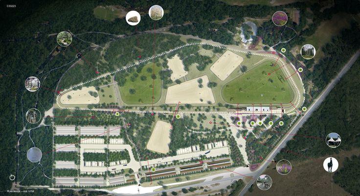 Stade équestre du Grand Parquet, Fontainebleau: A super horse park / show ground in France | Le-Grand-Stade-by-Joly-Loiret-13 « Landscape Architecture Works | Landezine