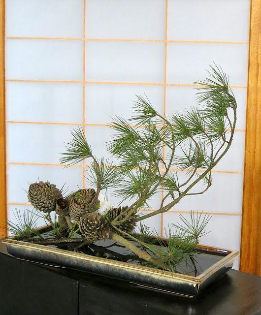 ROADSIDE IKEBANA: Interesting use of pine cones and pine.  Also links to an ikebana blog.