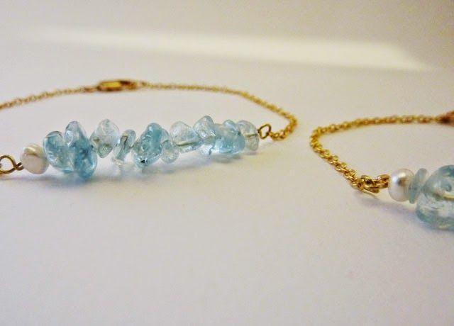 handmade with love _ aqua marine bracelet