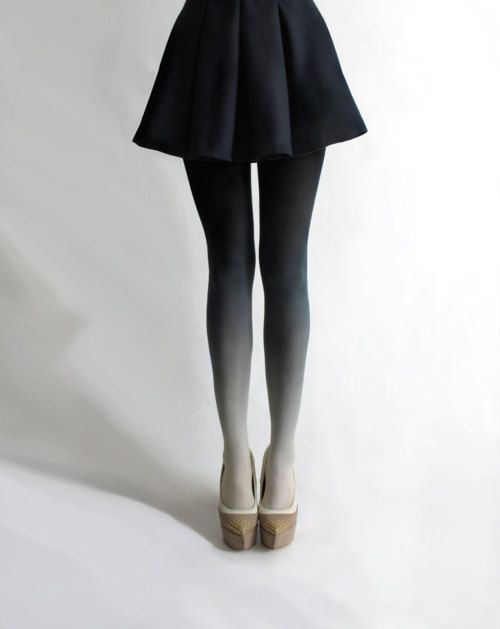 ...: Shoes, Ombré Tights, Beautiful, Bzr Ombre, Black Skirts, Ombre Tights, Accessories, Gradient Tights, Wear