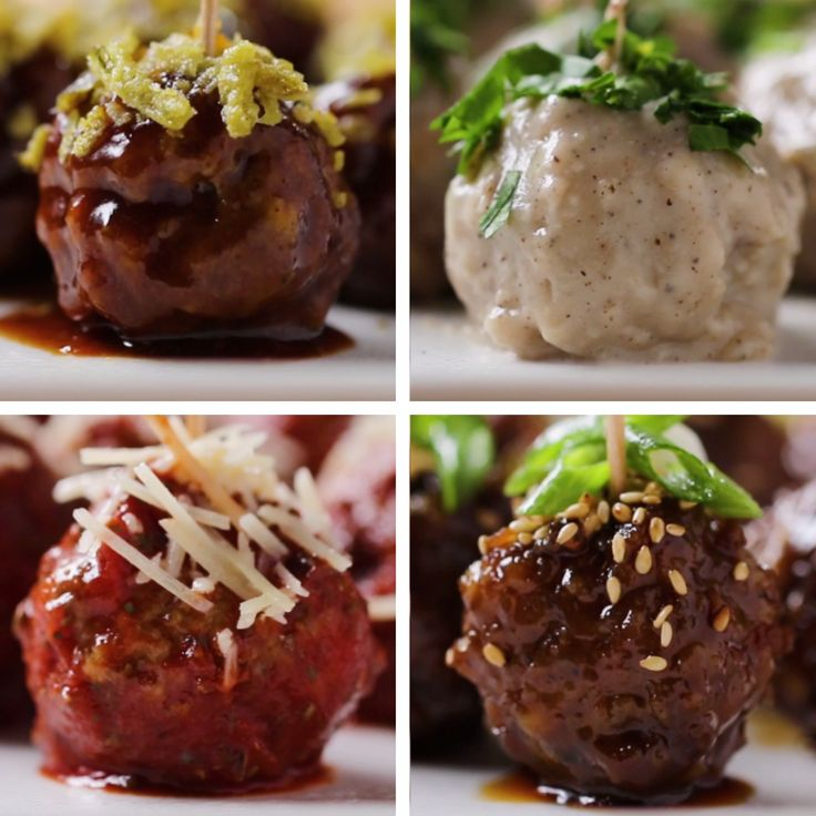 Party Meatballs 4 ways