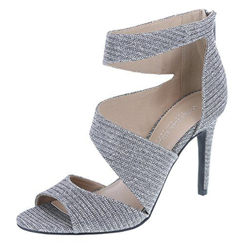 5a5d420b203c nice heels Christian Siriano for Payless Women s Silver Glitter ...