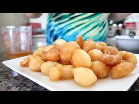 YiaYia's Loukoumathes - Yummy Greek Honey puffs! YiaYia is quite cute and amusing- a bit difficult to understand, at times, but she's a doll :)