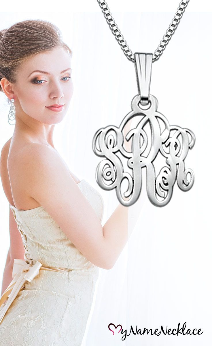 Approximately the size of a dime, this monogram initial necklace offers the opportunity to wear up to three initials in a stylish yet subdued fashion. If you are looking for that perfect small monogram statement piece, this is the perfect choice! Plus it makes for a great gift for your Bridesmaids on your special day