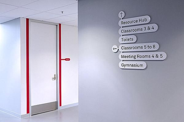 Elegant signage at an award-winning emergency services training facility in Melbourne, Australia. Click image for link to full story and visit the slowottawa.ca boards >> https://www.pinterest.com/slowottawa/