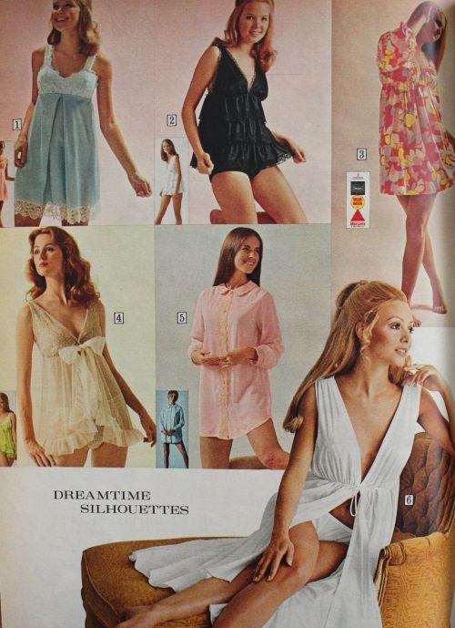 1970 Baby Doll Nighties Pajamas Boudoir Baby Doll