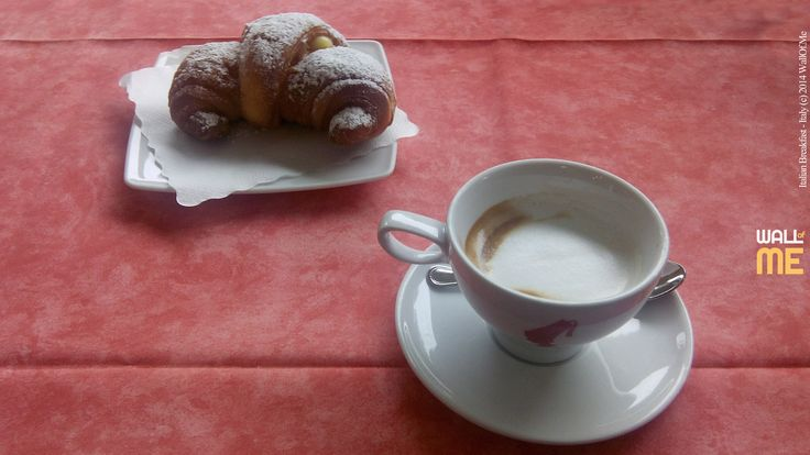 2014, week 45. Tipical Italian Breakfast: Cornetto and Macchiatone - Italy. Picture taken: 2014, 10