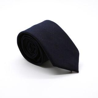 Zonettie by Ferrecci Dark Navy Plaid Slim Necktie and Pocket Square Set Review