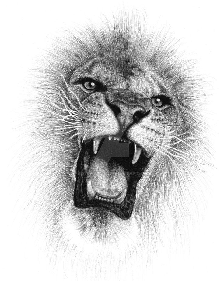 Lion Roar by jendawn77 on DeviantArt Lion head tattoos