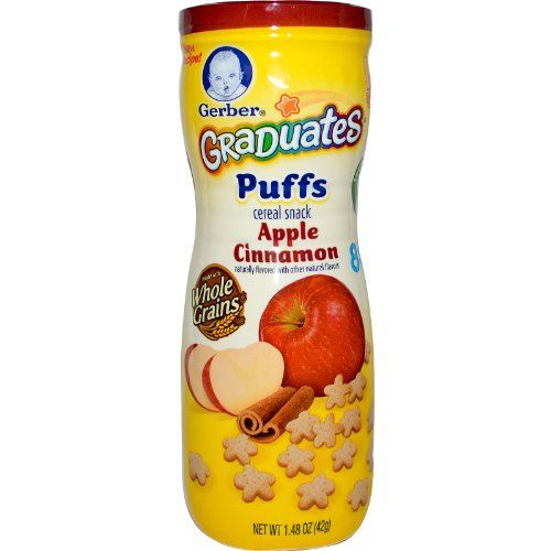 Gerber Graduates Puffs Cereal Snack Apple Cinnamon -- 1.48 oz 2g of Whole Grains per serving. Iron for Healthy Brain Development.  #Nestle #Grocery