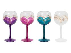 NEW LOUZA WINE GLASS New Ruza wine glass yellow (Round)