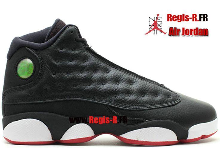 """Jordan 13 Retro (Gs) """"Playoff"""" - Chaussures Basket Jordan Pas Cher Pour Homme Noir/Blanc/Rouge 414574-002"""