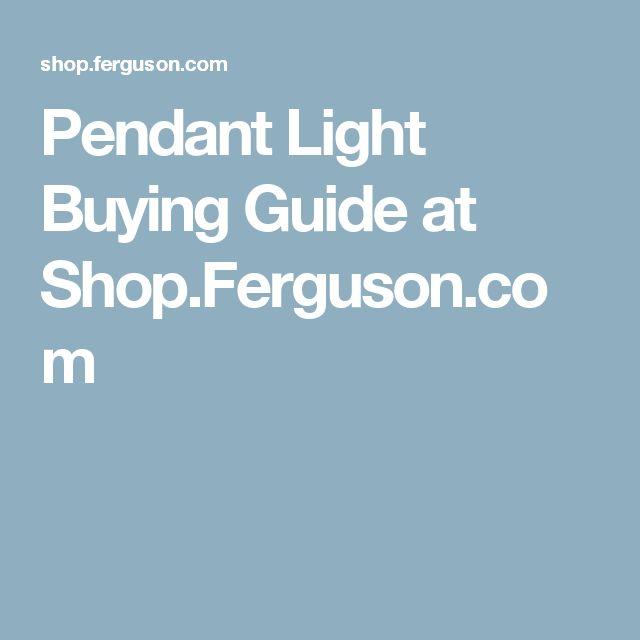 Pendant Light Buying Guide at Shop.Ferguson.com