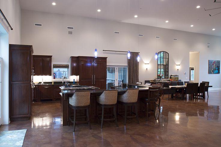 Morton buildings custom home interior in nashville for Morton building with basement