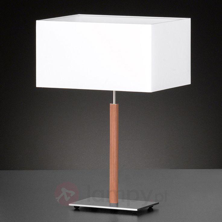 Lampa stołowa Casta z białym tekstylnym kloszem 4581038