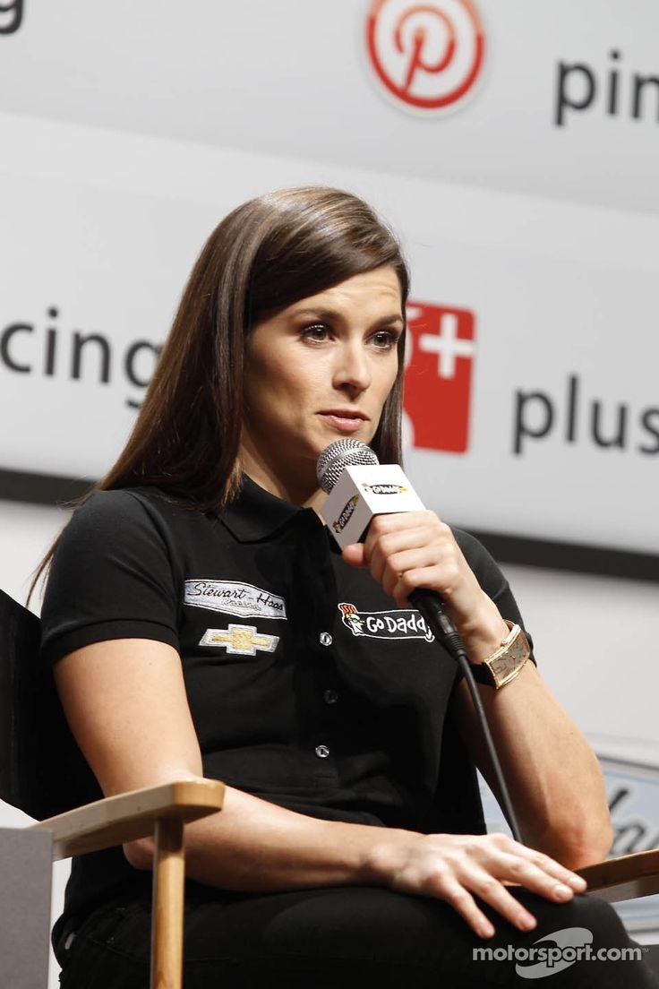 Danica patrick stewart haas racing chevrolet at nascar media tour