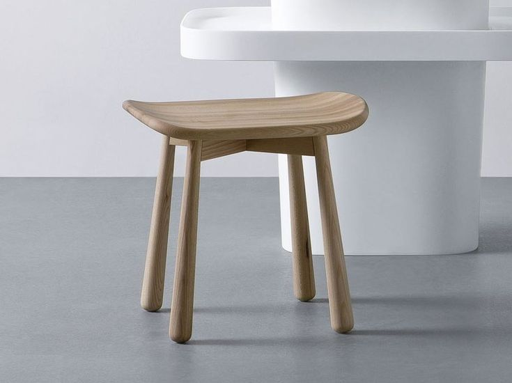 Tabouret de salle de bain en bois Collection Fonte by Rexa Design | design Monica Graffeo