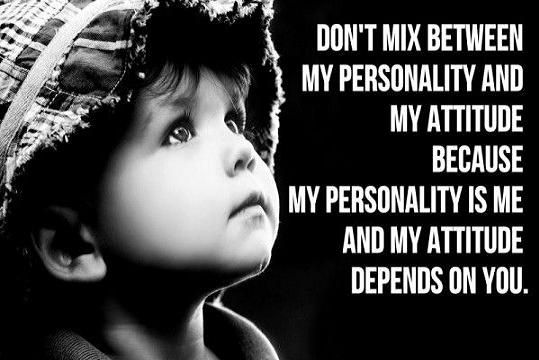 Attitude and personality