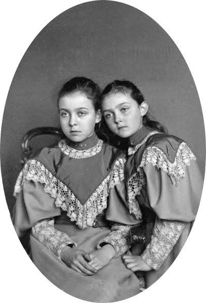 Margaret and her sister Patricia
