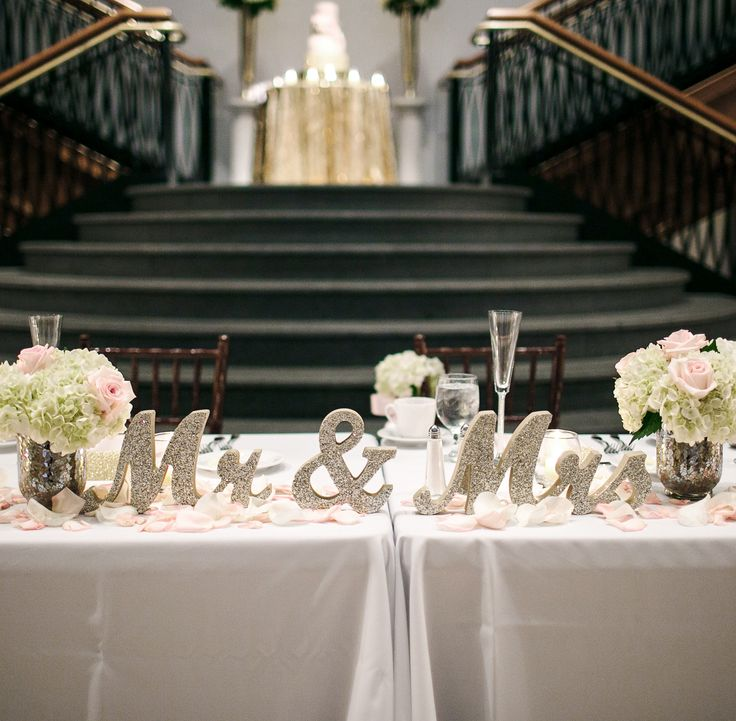 Classy sweetheart table ideas for the bride and groom - Mr & Mrs - 2016 and 2017 wedding ideas | www.ZCreateDesign.com