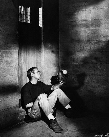 Steve McQueen in The Great Escape...He spent a lot of time in this cell... #film