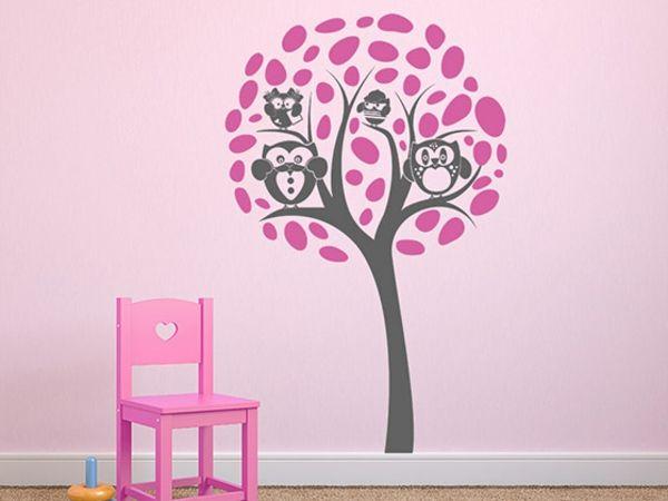 Kreative Wandgestaltung mit Kinderzimmer Wandtattoos in 2018 - wandgestaltung mit drei farben