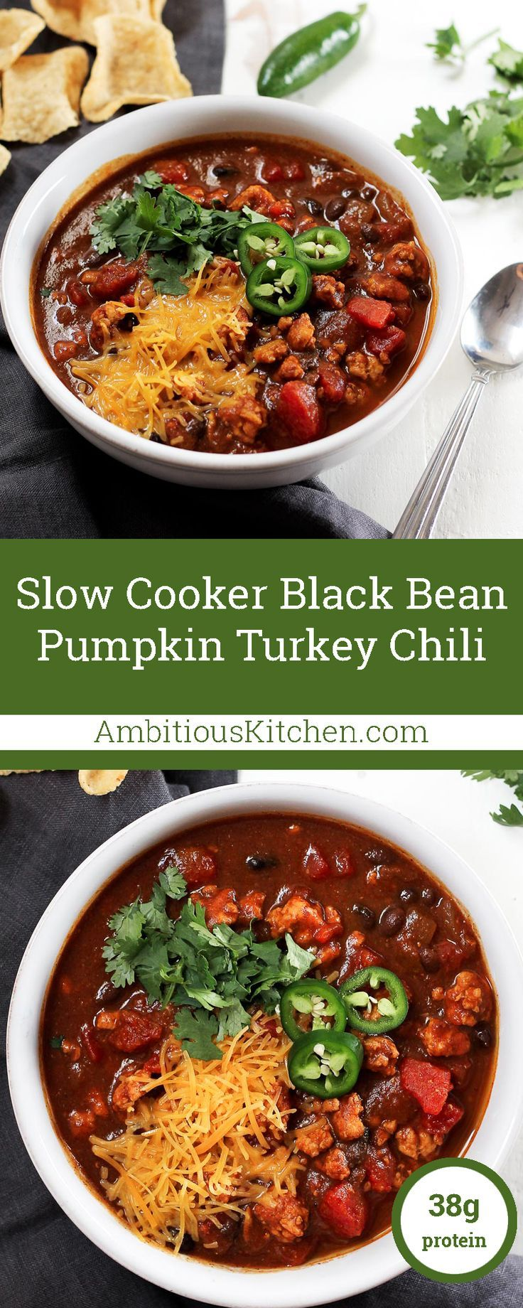 This black bean pumpkin turkey chili is both healthy and bursting with ...