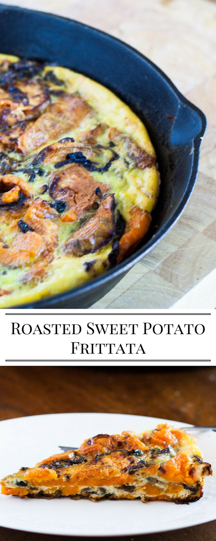 This dairy free Frittata is packed full of roasted sweet potatoes.  This can be made ahead and served at room temperature.  Roasted Sweet Potato Frittata
