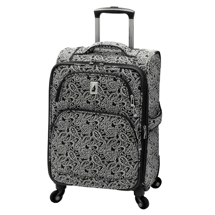 London Fog Greenwich Collection 20-inch Expandable Carry-on Rolling Upright Suitcase